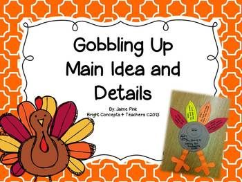 This writing craft will get your kids excited about reviewing main idea and details all while getting into the Thanksgiving spirit. Students will write the main idea on the body and details on the turkey's feathers. It can be used with any story. They also make a great bulletin board display.