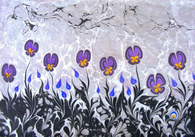 ebru Turkish water marbling art