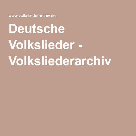 Deutsche Volkslieder - Volksliederarchiv