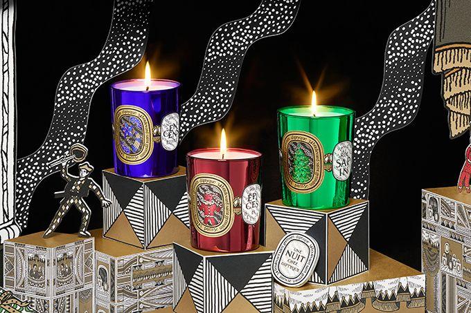 ディプティック クリスマス限定フレグランスキャンドル、ツリーやジンジャーブレッドマンのイラスト入り | ニュース - ファッションプレス