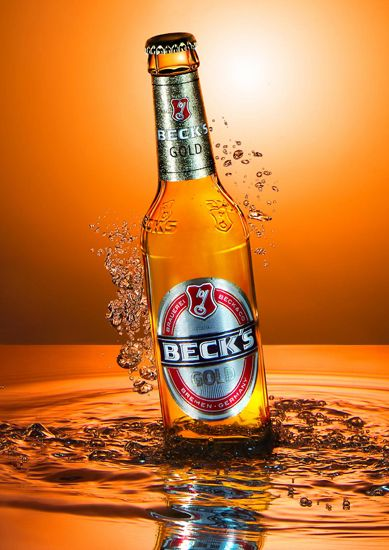 Becks Gold, Beer, Bierflasche, Produktfotografie, Beverage Photography, Underwater Photography, Liquid Photography