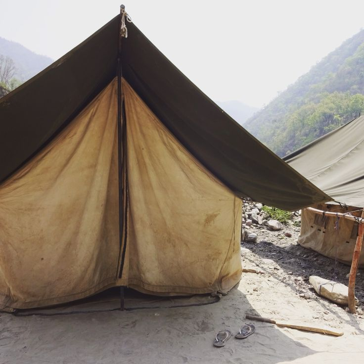 Camping next to the Ganges