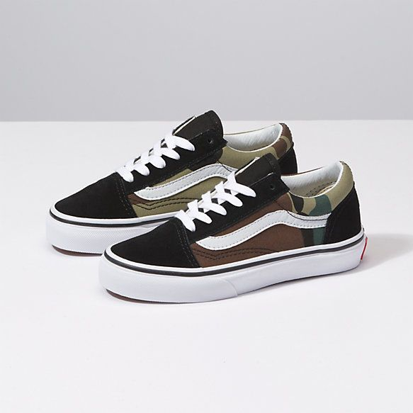 Kids Woodland Camo Old Skool | Shop At Vans | Girls shoes