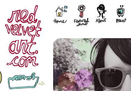 hand drawn website