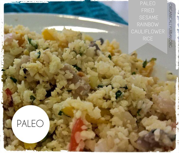 #Paleo #Banting #Primal Fried Sesame Rainbow #Cauliflower Rice