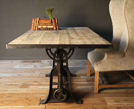 Industrial Crank Dining Table 6ft Living