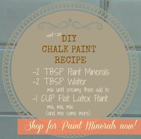 54 best images about chalk paint on pinterest mirror for Diy chalk paint problems