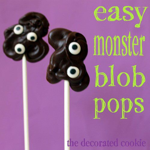 Chocolate Monster Blob Pops