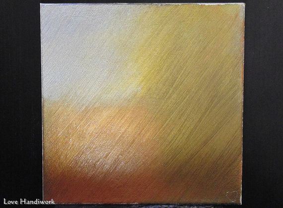 Silver Gold Copper & Bronze Abstract Square by LoveHandyWork