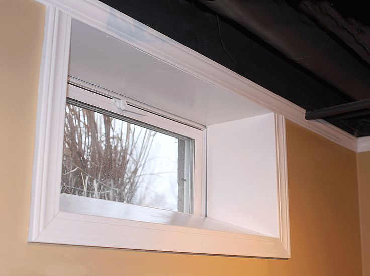 Angle framing for basement small windows unless we just for Picture window replacement ideas
