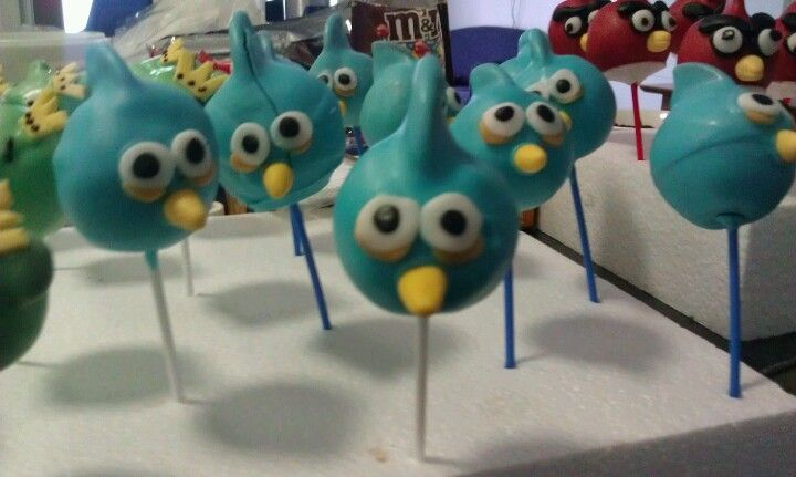 Blue bird pops