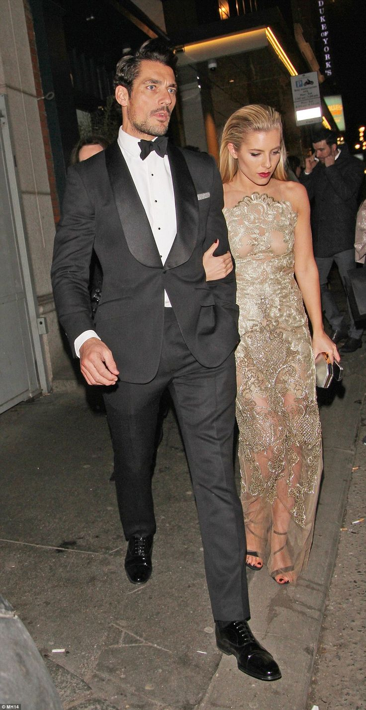 David Gandy, who is the world's highest-paid male model, was joined by his girlfriend Mollie King