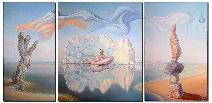 Patience by Gyuri Lohmuller #art #oil #canvas #paintings #sale #original #surreal #symbolic #symbolism #fantasy #conceptual #realism #surrealism #world #music #religion #sky #belief #phylosophy #mythology