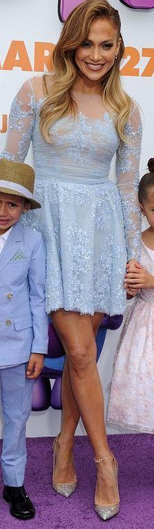 Jennifer Lopez: Dress – Zuhair  Shoes – Christian Louboutin
