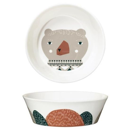 Inspired by The Three Bears story, Donna Wilson has produced a set of 3 Bear bowls. This is the medium sized Mummy Bear bowl, beautifully illustrated and made in high quality ceramic in the UK. It is about right for Mummy sized helpings of anything that takes her fancy! Dad version also available! £21.75 | Birdkids