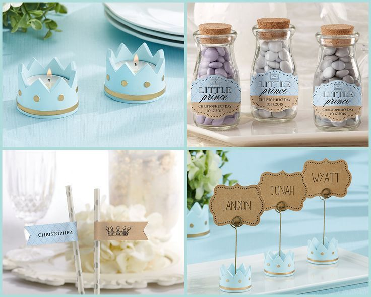 518 best baby shower candle favors images on pinterest baptism little prince baby shower party favors negle Images