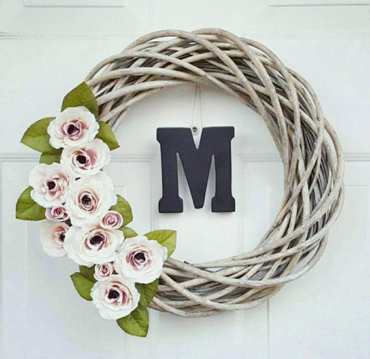 Spring Wreath - Front Door Wreath - Country Decor - Rustic Decor - Farmhouse Decor - Country Wreath - Country Chic Decor - Wreath for Door by BeWreathedNYC on Etsy https://www.etsy.com/listing/286781129/spring-wreath-front-door-wreath-country