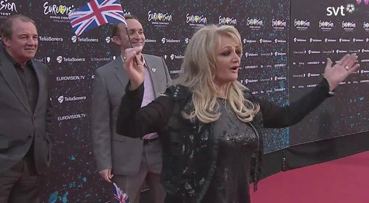 #‎rock‬ ‪#‎music‬ ‪#‎bonnietyler‬ ‪#‎eurovision‬ Bonnie Tyler at the opening ceremony of the Eurovision in Malmö Opera.  12/05/2013 #bonnietyler #eurovision #gaynorsullivan #gaynorhopkins #thequeenbonnietyler #therockingqueen #rockingqueen #2013 #malmo #uk #unitedkingdom #music #rock