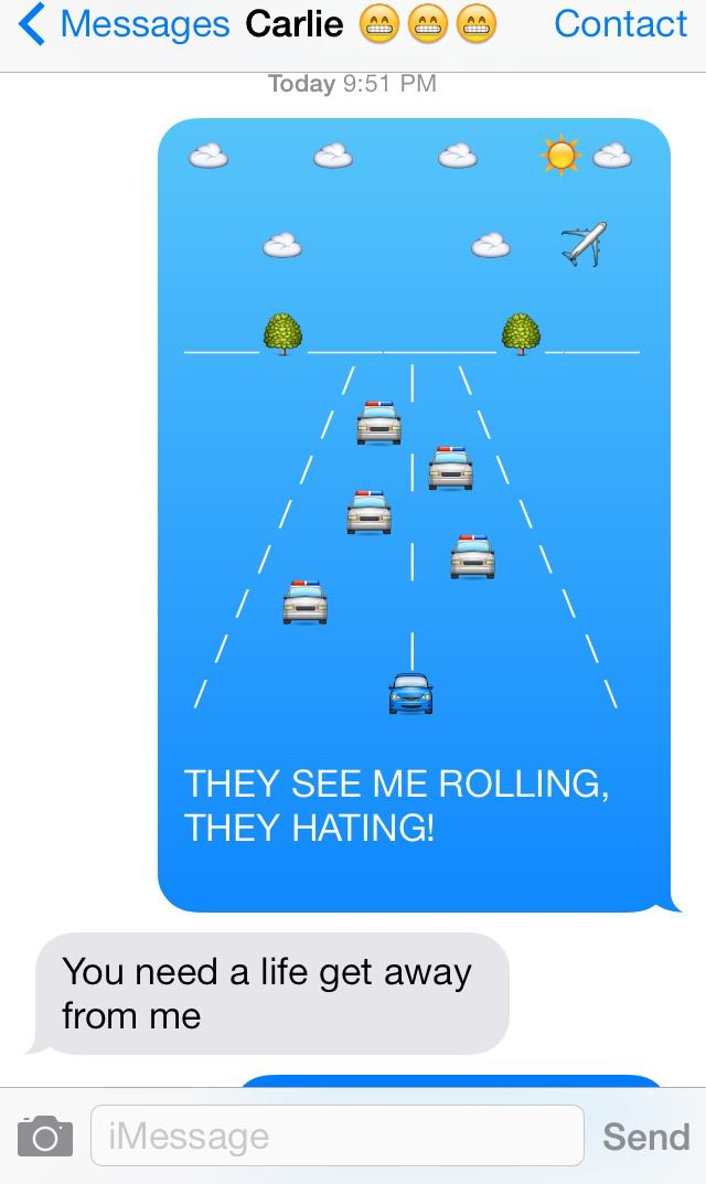 iMessage emoji art