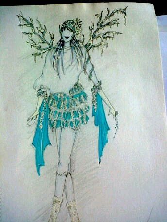 the ice princess costume - previous doodle