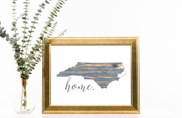 NC Map Art   Gold Foil Printable   Cafe Art   Blue and Gold   Home Decor   Home Print   by SouthernSilverLining on Etsy https://www.etsy.com/listing/502863909/nc-map-art-gold-foil-printable-cafe-art