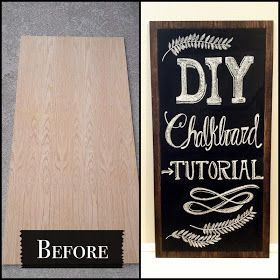 Decorgreat: DIY Chalkboard Tutorial <- This is how people make all those great wedding chalk signs