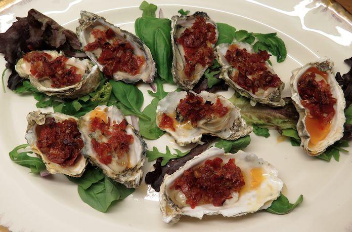 gegrilde oesters met chorizo-boter