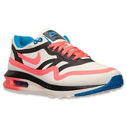 Women's Nike Air Max Lunar1 WR Chicago Running Shoes  Finish Line   Sail/Hyper Punch/Ash/Light Photo Blue