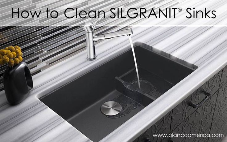 How-to Clean #Silgranit #Sinks. Design Videos Pinterest