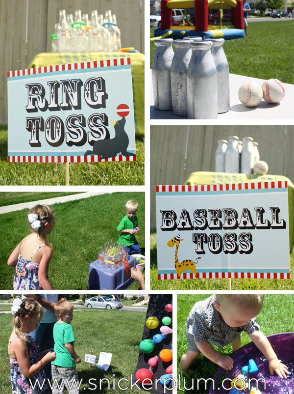 Circus Party Games & Activities | Snickerplum's Party Blog | Snickerplum