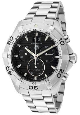 Tag Heuer CAF101E.BA0821 Watches,Men's Aquaracer Chronograph Black Dial Stainless Steel, Men's Tag Heuer Quartz Watches