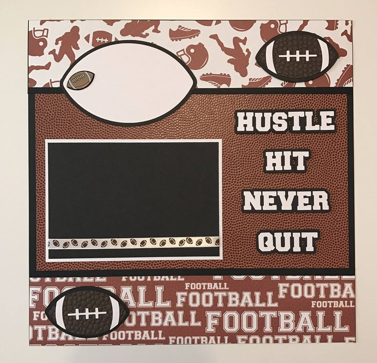 """Premade """"Football"""" Scrapbook Layout/Page, High School Football, Little League Football, Football by JuliesPaperCrafts on Etsy"""