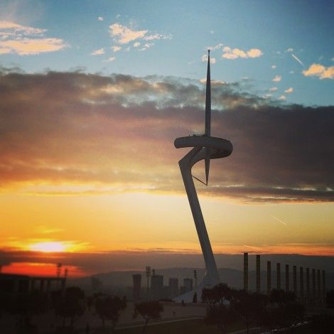 torre+montjuic+telecomunicaciones+barcelona+calatrava