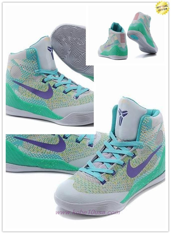 Grayish green 108314 Nike Kobe 9 For Sale