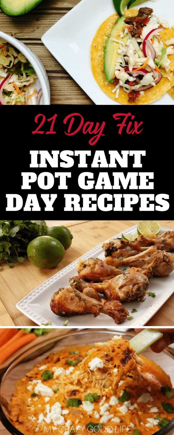 The big game day is coming! Do you have all of your recipes geared up and ready to go? Yeah, I wasn't quite ready yet either. I put together some great 21 Day Fix Instant Pot game day recipes to make it easier. #21dayfix #recipes #gameday #instantpot