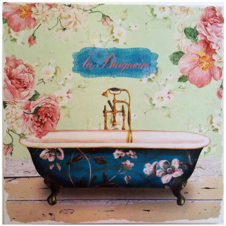 Tela Bathroom Banheira Floral
