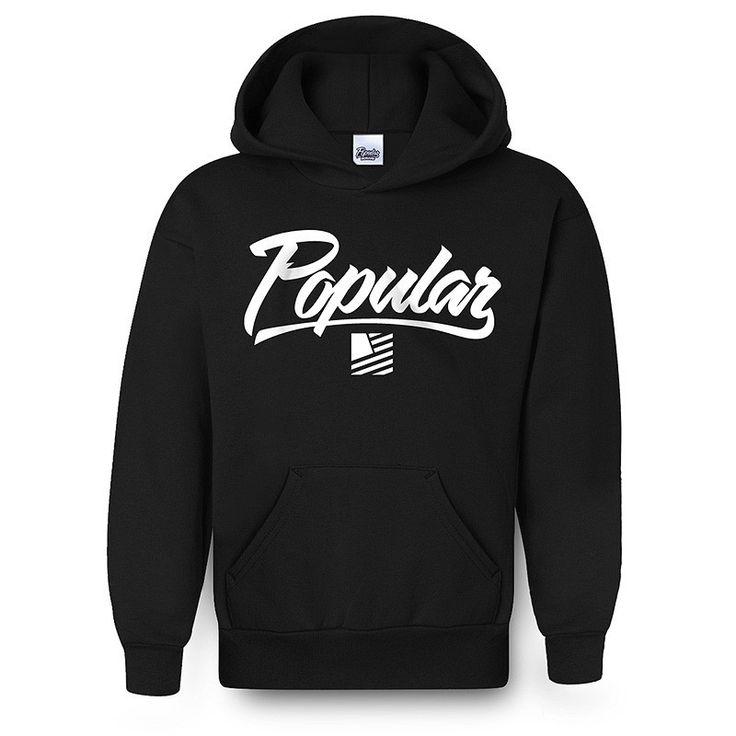Popular Hoodie / Black & White