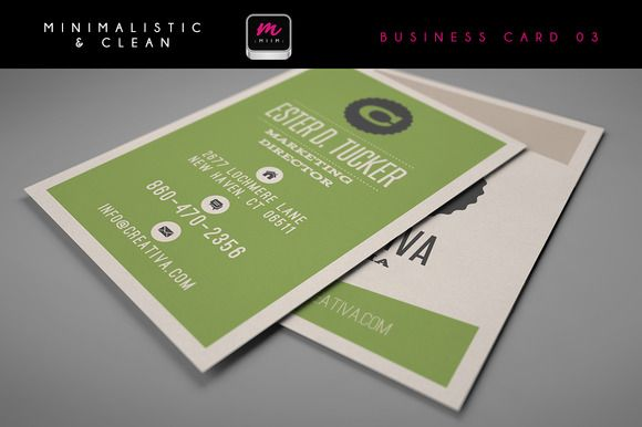 Check out Clean Business Card Template 03 by MIIM on Creative Market
