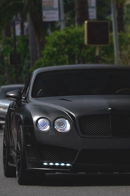 Matt Black Finish Bentley Continental GT - more amazing cars here: http://themotolovers.com