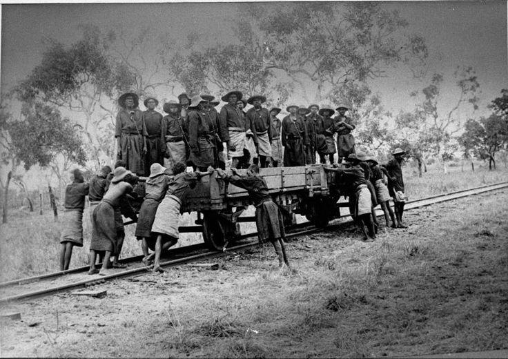 026300PD: Aboriginal prisoners in chains in a railway wagon, Derby, 1897 https://encore.slwa.wa.gov.au/iii/encore/record/C__Rb1927700