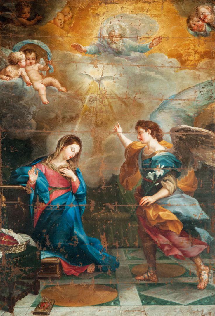 Agostino Masucci 1723, Annunciazione, Monteleone di Spoleto, chiesa di S. Francesco