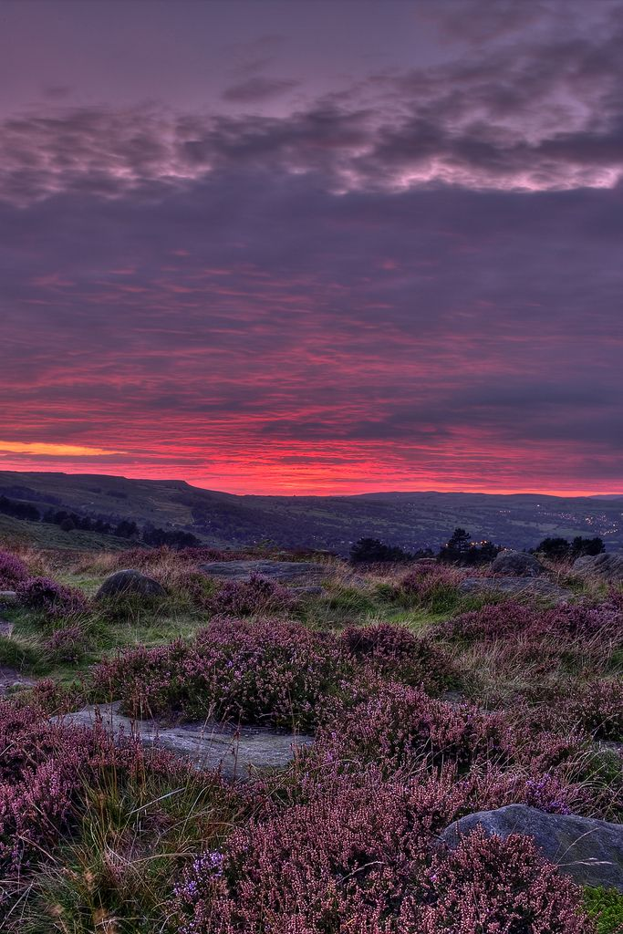 Ilkley Moor is part of the moorland which stretches between Ilkley and Keighley in West Yorkshire. This moor, which rises 402 m (1319 ft) above sea level, is distinguished for the inspiration of the unofficial Yorkshire county anthem. On Ilkla Moor Baht 'at  ('On Ilkley Moor Without a Hat')