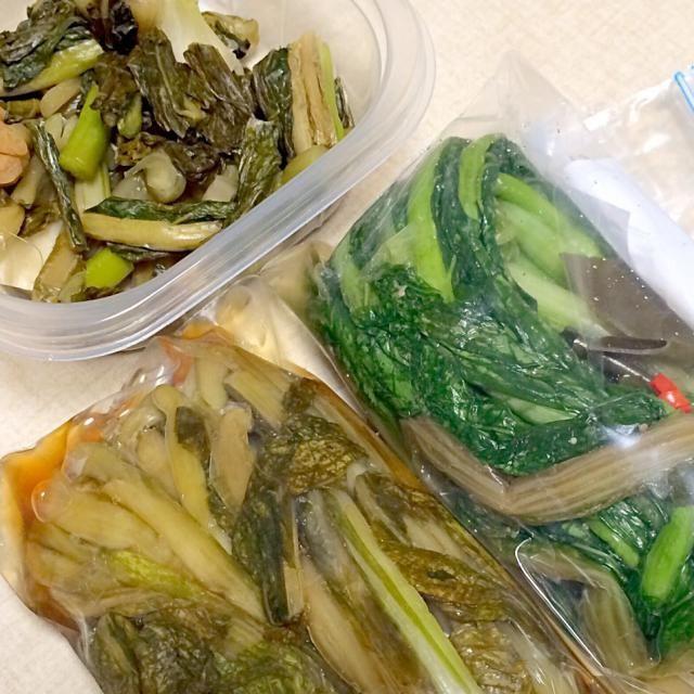たくさん、送ってくれました。 やっぱりの姉の野沢菜漬けは美味しい - 38件のもぐもぐ - 姉の手作り 野沢菜漬け by hamama0725
