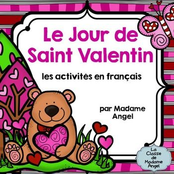 Activités sur la St-Valentin en français pour travailler le vocabulaire, l'orthographe, les syllabes.