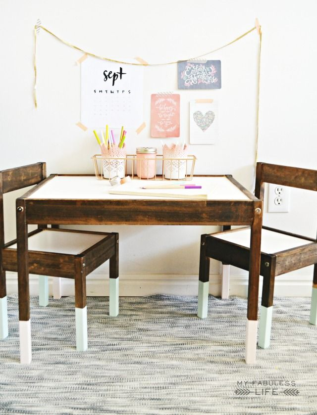 Kids table for girls room