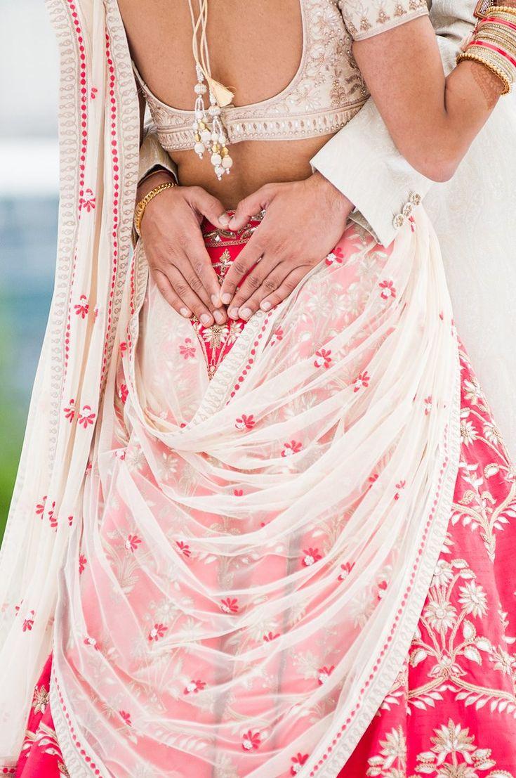 magenta pink and white wedding lehenga - Hyatt Regency Devou Park Outdoor Wedding Kentucky   Michael Bambino