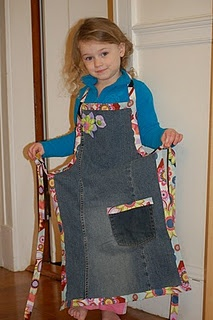 Jean Apron - Colorful, Easy, Fun and Functional!