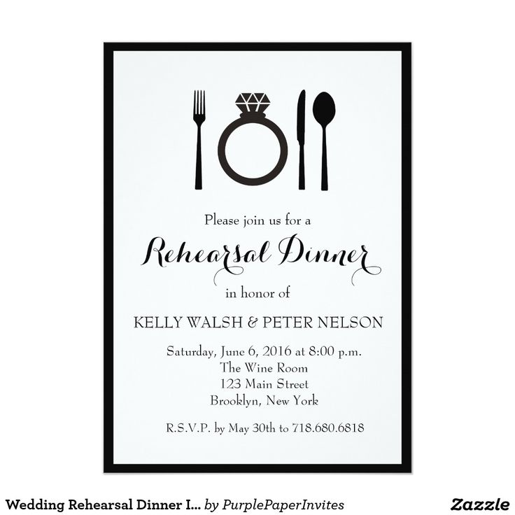Wedding Rehearsal Dinner Invitation                                                                                                                                                                                 More