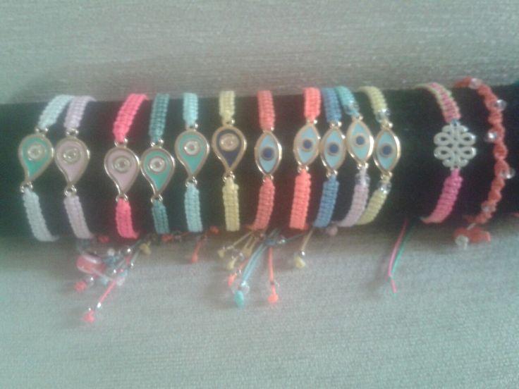 Evil eye summer bracelets