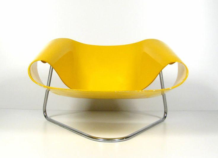 Cesare Leonardi U0026 Franca Stagi Ribbon Chair Cl9 For Berninin, Italy. Rare  Ribbon Chair